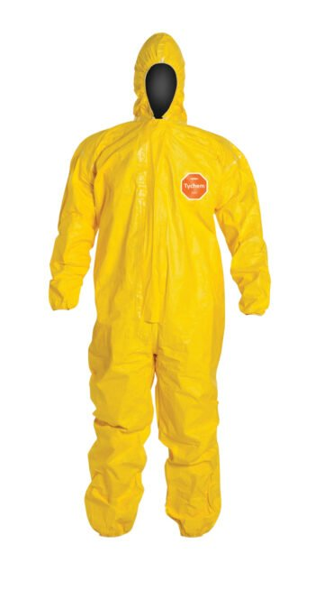 Tychem 2000 QC127T YL hooded coverall New brand front HighRes