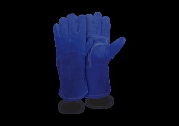 Guante Soldador Azul Hilo Kev Con Refuerzo