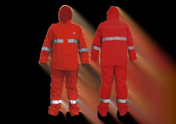 Impermeable 2 piezas Chamarra y Pantalon Rojo