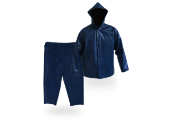 Impermeable 2 piezas con Capucha Azul