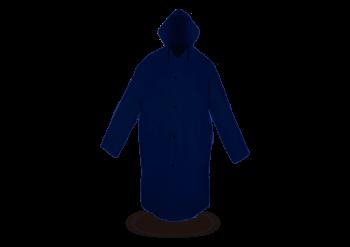 Impermeable Gabardina con Capucha Azul