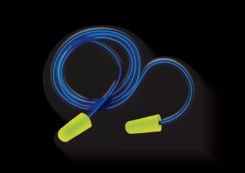 Tapon auditivo desechable con cordon alta visibilidad